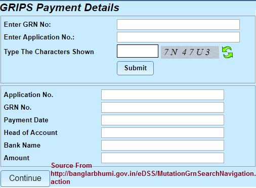 Banglarbhumi GRN Search