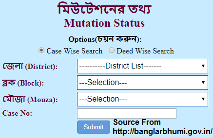 Banglarbhumi Mutation Status