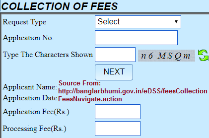 collection of fees payment